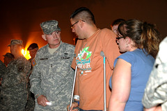 Soldier wounded at Fort Hood attends vigil