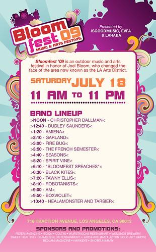 ROBOTANISTS @ Bloomfest 2009 Lineup - Los Angeles, CA 7.18.09