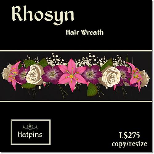 Rhosyn Hair Wreath - Raspberries and Cream