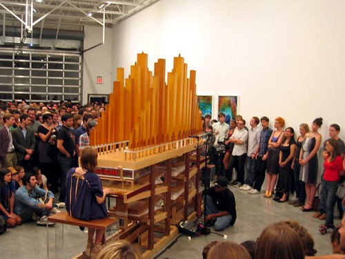 Aureglass organ at Deitch Projects.