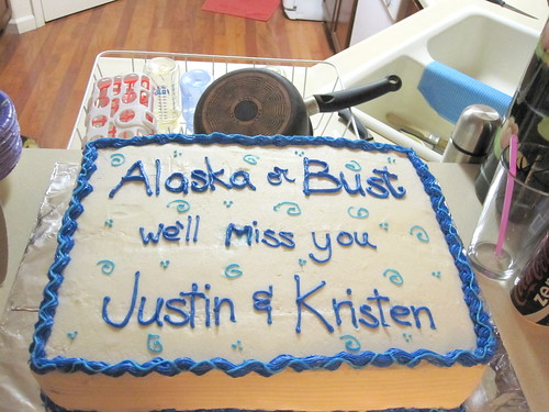 going away party cake