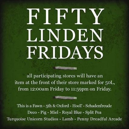 Fifty Linden Fridays Week 09