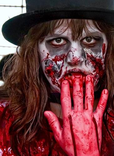 Zombie Girl Having a Snack