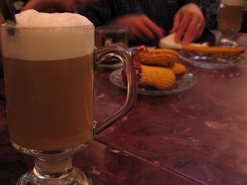 Cappuccino consumed in the East Village.