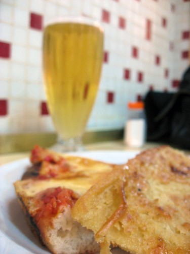 Pizza and Faina at Guerrin