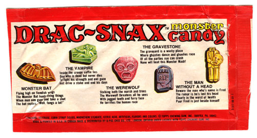 Drac-Snax wrapper (Back)