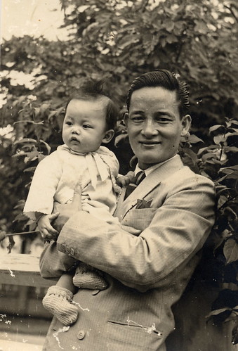 My dad with Ong Noi (his dad)