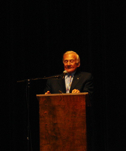 Aldrin speaking at the Southern Festival of Books