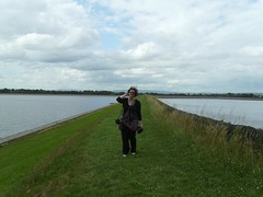 me in the middle of a reservoir