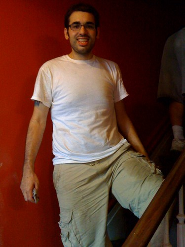 Rob on stairs