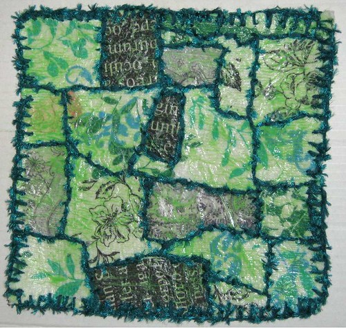 Green Fabric Paper Quilt