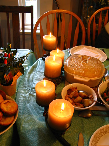 Canadian Thanksgiving - candles
