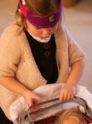New sweater & new stroller/pram