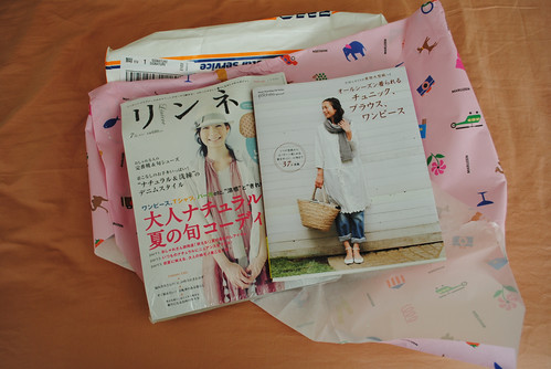 """My favorite magazine Liniere and a new sewing book """"all seasons ____ tunic, blouse, onepiece"""""""