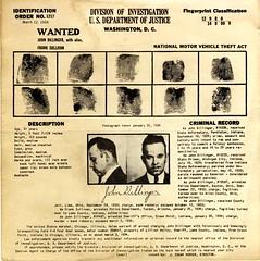 [Recto] Wanted poster: John Dillinger, publish...
