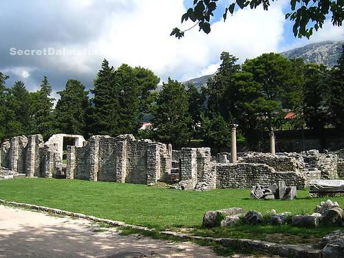 Basilica at the entrance to Salona