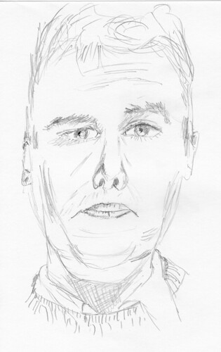 Self-portrait, drawn on December 10, 2008