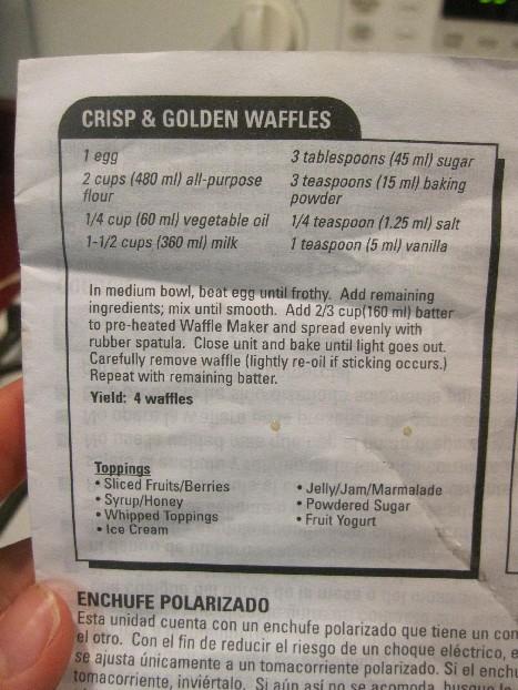 Waffle Recipe