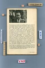 Leonardo Sciascia, Il giorno della civetta. Einaudi 1961. Piatto posteriore