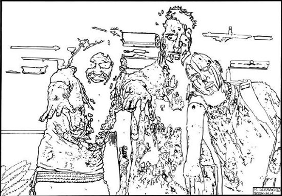 richard-serrao-3-zombies-pen-and-ink-stage-1