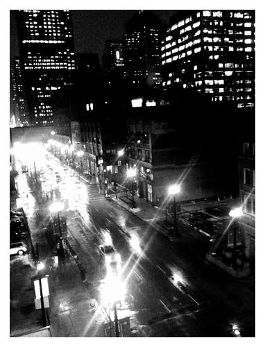 Snowy evening commute