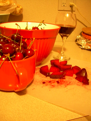 As you can tell, we also have obscene amounts of cherries.  Red all around!