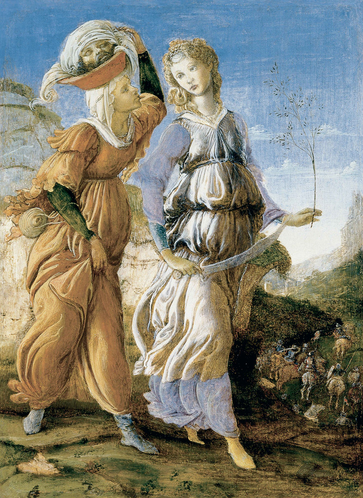 Sandro Botticelli & [Filippino Lippi]: Judith Returning to Bethulia