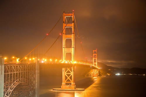Clear Night In SF: Golden Gate Bridge