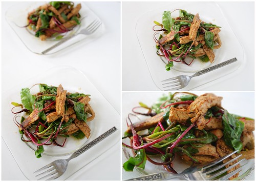 Young Beet and Chicken Salad