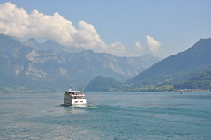 ferry on Walensee