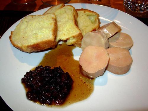 Fois gras torchon, onion confit, warm brioche from Jules Patisserie