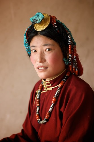 It too a lot of convincing to get this Tibetan woman to sit for a portrait.