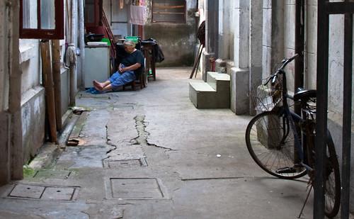 Sleeping Woman and Bike