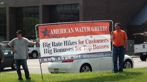 Union protest at MO American Water