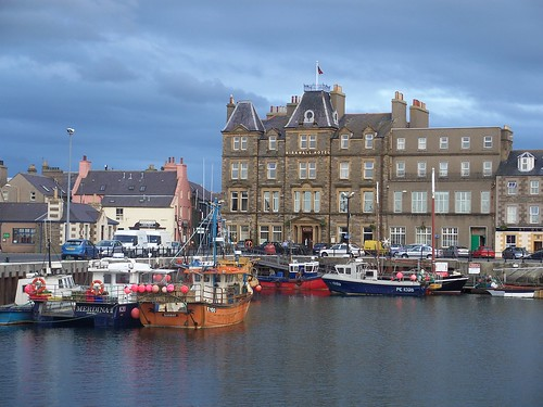 Kirkwall Harbour and hotel