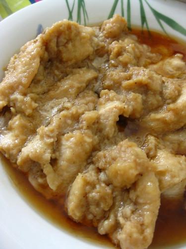 Steamed ginger chicken