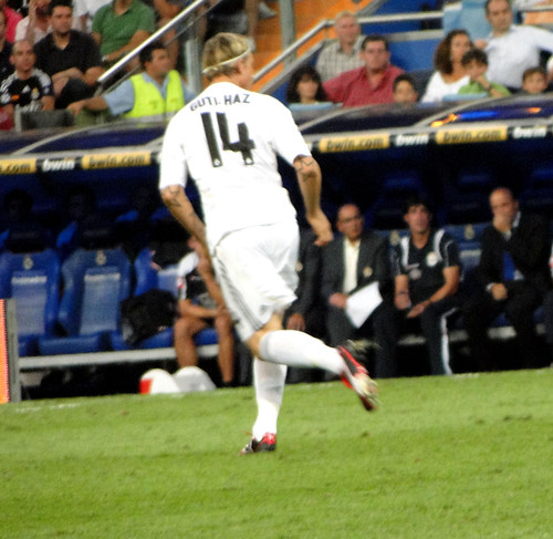 Real Madrid player Guti - boots