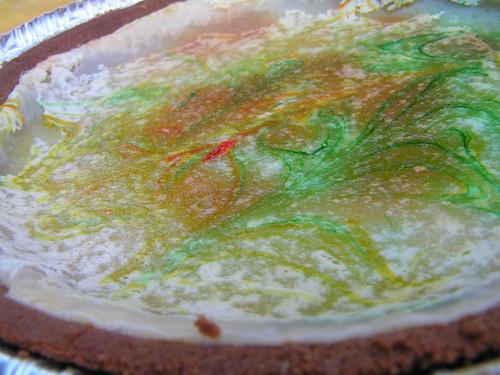 Failed coloured cheesecake