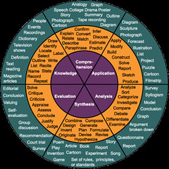 Bloom's Taxonomy as a wheel