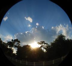 Fisheye Cloudy Sunny Sky