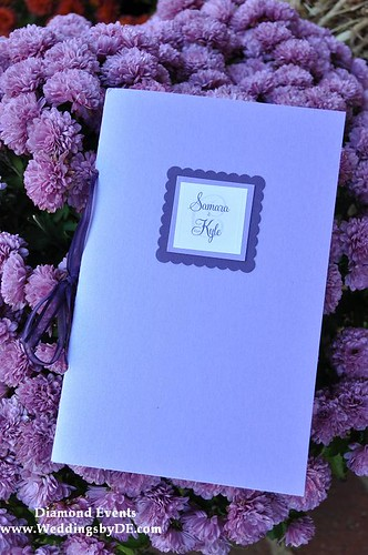 Purple wedding program