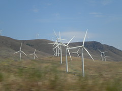 Wind Turbines Dotted Hilltops Near Maryhill Museum