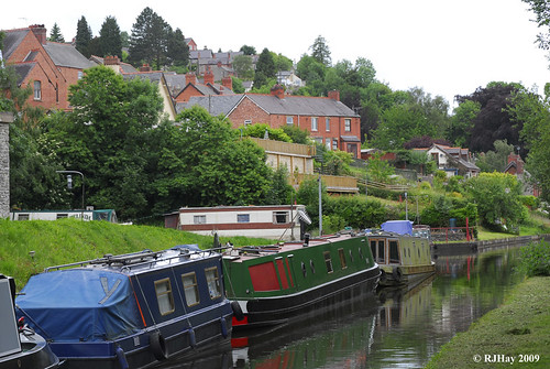 Images from the tow path of the Llangollen Canal
