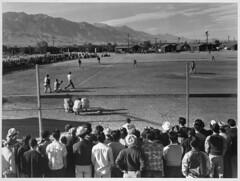 Baseball game, Manzanar Relocation Center, Cal...