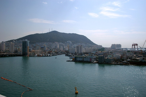 More of the Busan harbor from the rooftop