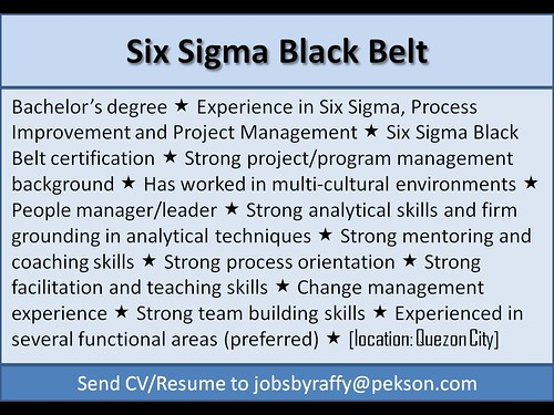 Six Sigma Blackbelt
