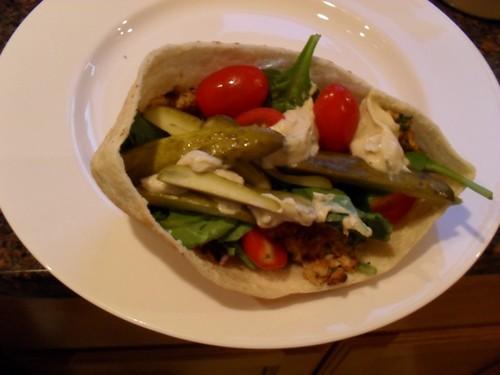 Completed falafel