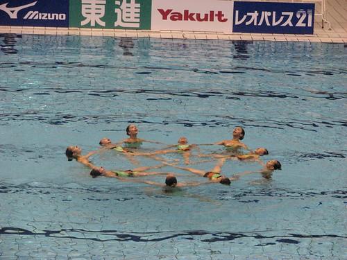 812澳門少年花泳隊在集體組合中演繹《德國黨衛軍進行曲》