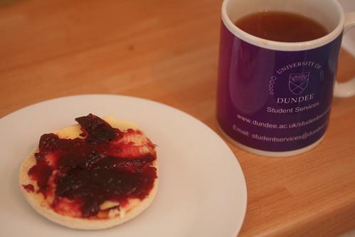 tea and damson jam