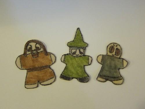 Hagrid, McGonagall & Voldemort Felt Flatties